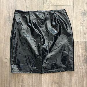 Fashion Nova Latex Pleather Skirt*